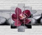 Orchid water stones. Размер 100х160 см. цена 30 у.е. (камни и цветок можно немного украсить мелкими стразами)
