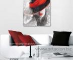 Paint poster girl size 60x60 cm. Размер 60х60 см цена 10 у.е.