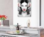 Red lips 01 Суперкачественный постер. Фото на гладкой жесткой основе, покрытие глянцевый или матовый лак. Можно сделать на планшете без рамки, толщина по бокам 2 см. или в строгой рамке хай тек любого цвета. Цена зависит от размеров, размеры могут быть любые, от 20х15 до 60х100 см. Пишите нам, можете заказать нам любое изображение или присылать свои фото artpost@bk.ru Суперкачество!