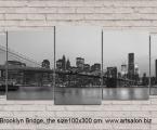 Brooklyn Bridge, the size of 100x300 cm Цена 50 у.е.