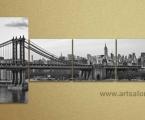 Brooklyn Bridge, the size of 90x180 cm