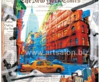 Collage of a taxi new york. Размер 60х60 см. цена 10 у.е.