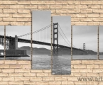 Golden Gate Bridge, size 100x210 cm. цена 40 у.е.