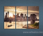 New York, the size of 80x130 cm