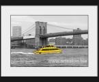 New_York_Water_Taxi_Brooklyn_Bridge. Размеры любые, от А-4 до 60х90 см Рамка из натурального дерева, цвет любой, или можно выполнить как планшет без рамки (Модный стиль)