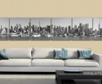 Panorama of the city, size 370x70 cm. цена 50 у.е.
