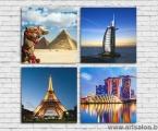 Tourism, 4 modules size 60x60 cm