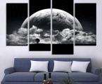 Black-white-moon