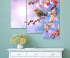 Sakura bird. Размер 97х120 см. (цветы можно украсить мелкими стразами, немного, для блеска капель росы) цена 35 у.е.