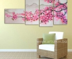 Sakura1. Размер 80х160 см. (цветы можно немного украсить мелкими стразами для блеска капель росы) цена 35 у.е.