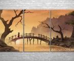 Way of the Samurai. Триптих, размер 80х160 см. Картина может быть как модульная так и одинарная в рамке или в виде планшета, изображение покрыто защитным лаком. цена 40 у.е.