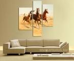 3 Panel Horses
