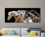 3 horses running2. Размер 50х150 см. цена 35 у.е.