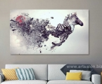 Abstract horse1, size 100x155 cm
