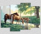 Horses by the stream. Размер 100х135 см. цена 40 у.е.