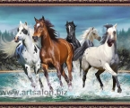 Paint Horses. Размер 70х90 см. цена 30 у.е.