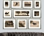 Photo Horses. Это образец как стильно и со вкусом можно украсить стены рамками различных размеров. Заказывайте любые фото, цена зависит от размеров.