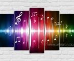 Звуковые волны-абстрактно-красочные, размер 80х130 см