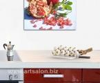 Panel for kitchen garnet. Размер 60х70 см Планшет под лаком (зерна граната можно украсить мелкими стразами, по желанию)