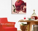 Reproduction of a picture of a pomegranate, the size 60х65 sm.