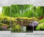 Spring, landscape bridge. Размер 80х130 см. цена 35 у.е. (200 тыс сум)