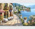 Italian landscape. Модульная картина из 2 частей. Общий размер 68х120 см. цена за 2 части 20 у.е.