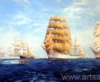 The sea, ships