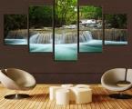 5-Panel-Waterfall. ЦЕНА КАРТИН ЗАВИСИТ ОТ РАЗМЕРОВ, УКАЖИТЕ КАКАЯ ШИРИНА КАРТИНЫ ВАМ НУЖНА