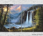 Waterfall 4 panels reproduction. Размер 80х140 см. Цена 35 у.е.