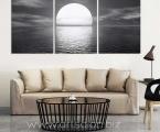 Art Modern black-and-white sunset, size 100x155 cm. Цена 30 у.е.
