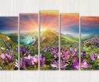 Mountain sunset. Размер 97х160 см. цена 50 у.е. Суперкачество, покрытие глянцевый как стекло лак или матовый