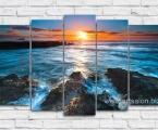 Sunset-blue sea