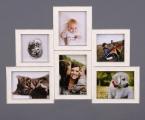 8. Строгие плоские рамки, ширина профиля 5 см, матовая белая эмаль. Рамки можно соединить между собой, Фото сделаны на тонкой жесткой основе и покрыты лаком. Легкая и красивая композиция семейных фото. Квадратные рамки размер 30х30 см. Цена 25 тыс сум, рамка А-4 25 тыс сум с печатью фотографий