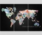 World Money Map. Размер каждой части 60х120 см. Общая ширина с учетом расстояния между частями 185 см. (жесткие планшеты. мебельная плита, толщина модулей 2,5 см. покрытие защитный матовый лак. Суперкачество! цена 70 у.е