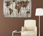 World map in Art modern style, size 60x90 cm. цена 15 у.е.