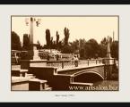 Anhor Bridge Tashkent 1950. Размер 65х85 см. размеры могут быть меньше