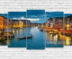 Modular panoramic night Venice. Размер 100х230 см. (ночное небо можно украсить мелкими стразами)