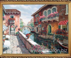 Venice art Golden frame. Репродукция на холсте, или ткани. Размер с багетом 70х90 см. цена 40 у.е. (можно заказать картины ручной работы маслом на холсте)