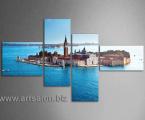 Venice big water. Размер 120х200 см. цена 40 у.е. Наши Модульные картины сделаны на планшетах (вид легкой мебельной плиты) толщина 2,5 см. их нельзы порвать, проткнуть, не боятся влаги, модули плотно прилегают к стене, легко крепятся, не нужно никаких крючков, картины сверху покрыты защитным лаком, глянцевым как стекло или матовым, что не было бликов и отражений.
