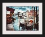 Venice province Gondolas 1. Постер в рамке под стеклом, или под лаком, размер 65х80 см. Рамка дерево, строгий профиль хай тек. цена 20 у.е. (размеры можно заказать меньше)