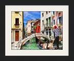 Venice province Gondolas 2. Постер в рамке под стеклом, или под лаком, размер 65х80 см. Рамка дерево, строгий профиль хай тек. цена 20 у.е. (размеры можно заказать меньше)