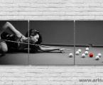 Модульное фото для бильярдной, размер 50х155 см