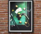 Самые лучшие картины и постеры для Бильярдных. Цена зависит от размера