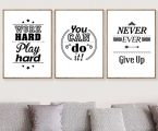 Dream-Love-Motivational-Quotes-Wall-Art-Canvas-Painting