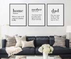 Modern-minimalist-typography, size 60x45 cm