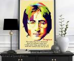 Poster-quotes-words-John-Lennon-size-80x60-cm (размеры можно заказать меньше) цена зависит от размеров