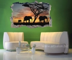 Africa, elephants, size 60x90 cm