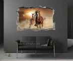 Sticker on the wall, horses, size 60x90 cm