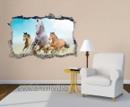 Sticker on the wall, horses1, size 60x90 cm
