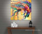 Abstract-head-wall-art-modern-painting-60x60-sm